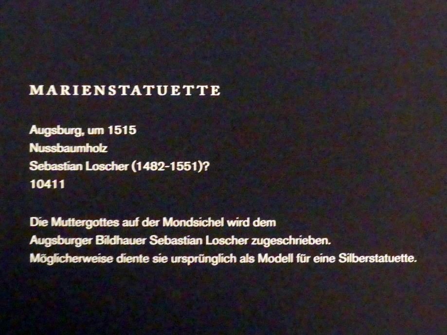 Sebastian Loscher: Marienstatuette, um 1515, Bild 2/2