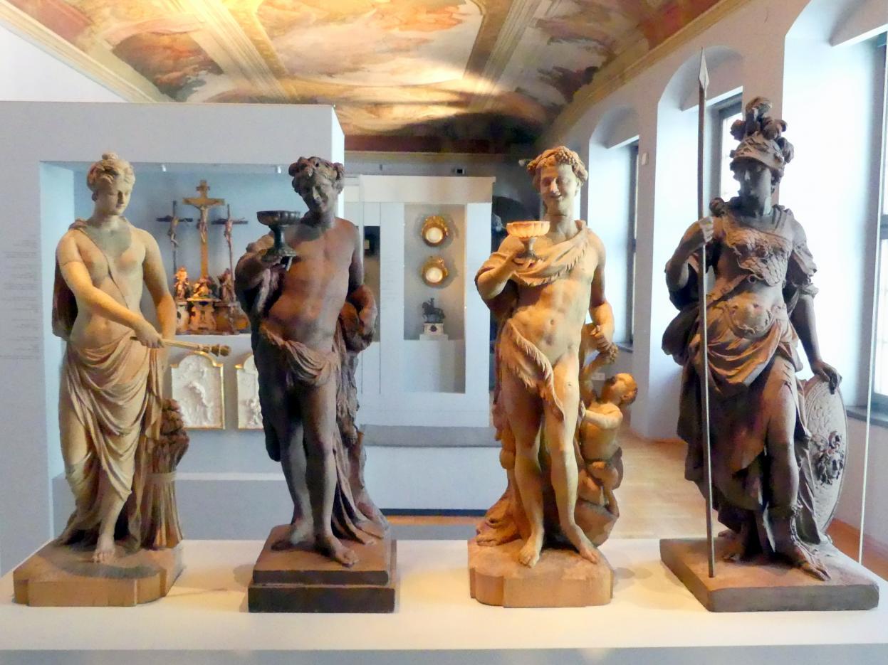 Roman Anton Boos: Vier Modelle zu Götterstatuen, 1777 - 1782