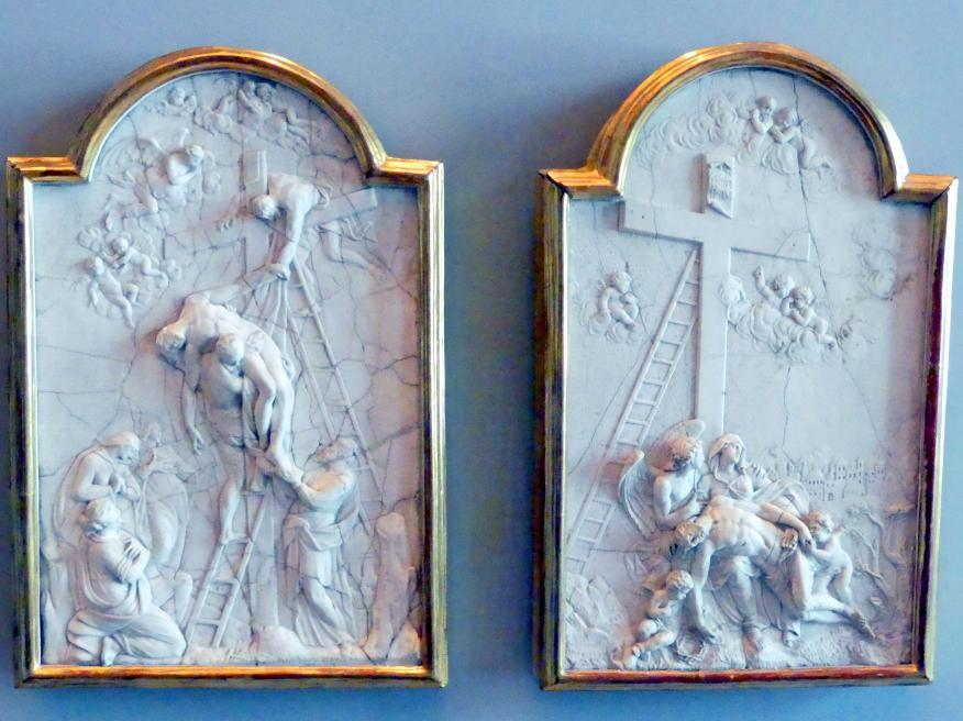 Nikolaus Moll: Kreuzabnahme und Beweinung Christi, um 1740