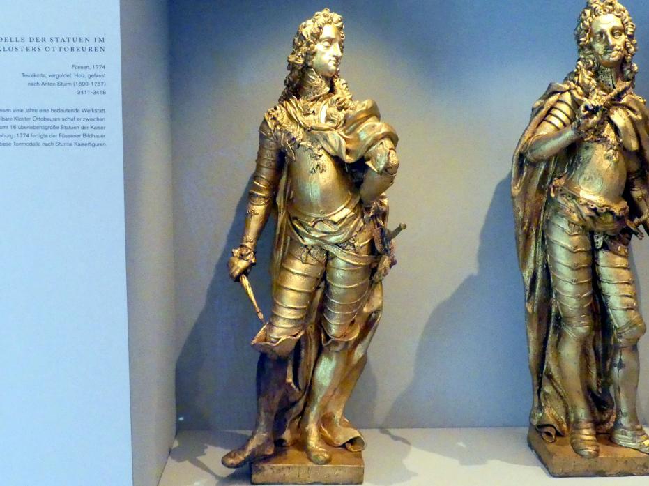 Reitmaier, Füssener Bildhauer: Modelle der Statuen im Kaisersaal des Klosters Ottobeuren, 1774