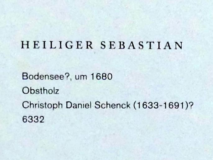 Christoph Daniel Schenck: Heiliger Sebastian, Um 1680