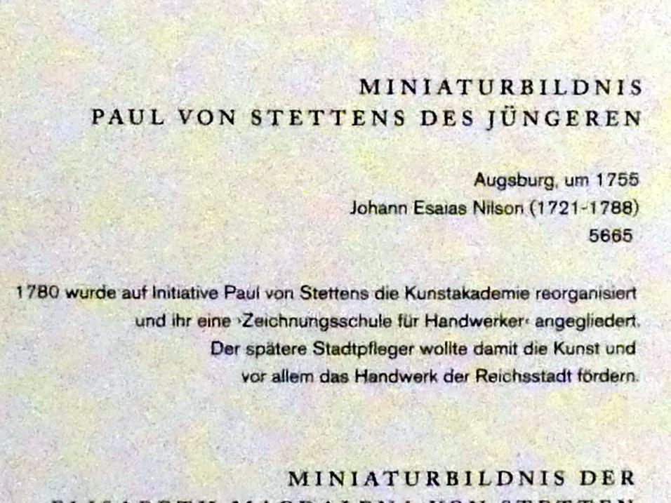 Johannes Esaias Nilson: Miniaturbildnis Paul von Stettens des Jüngeren, um 1755, Bild 2/2