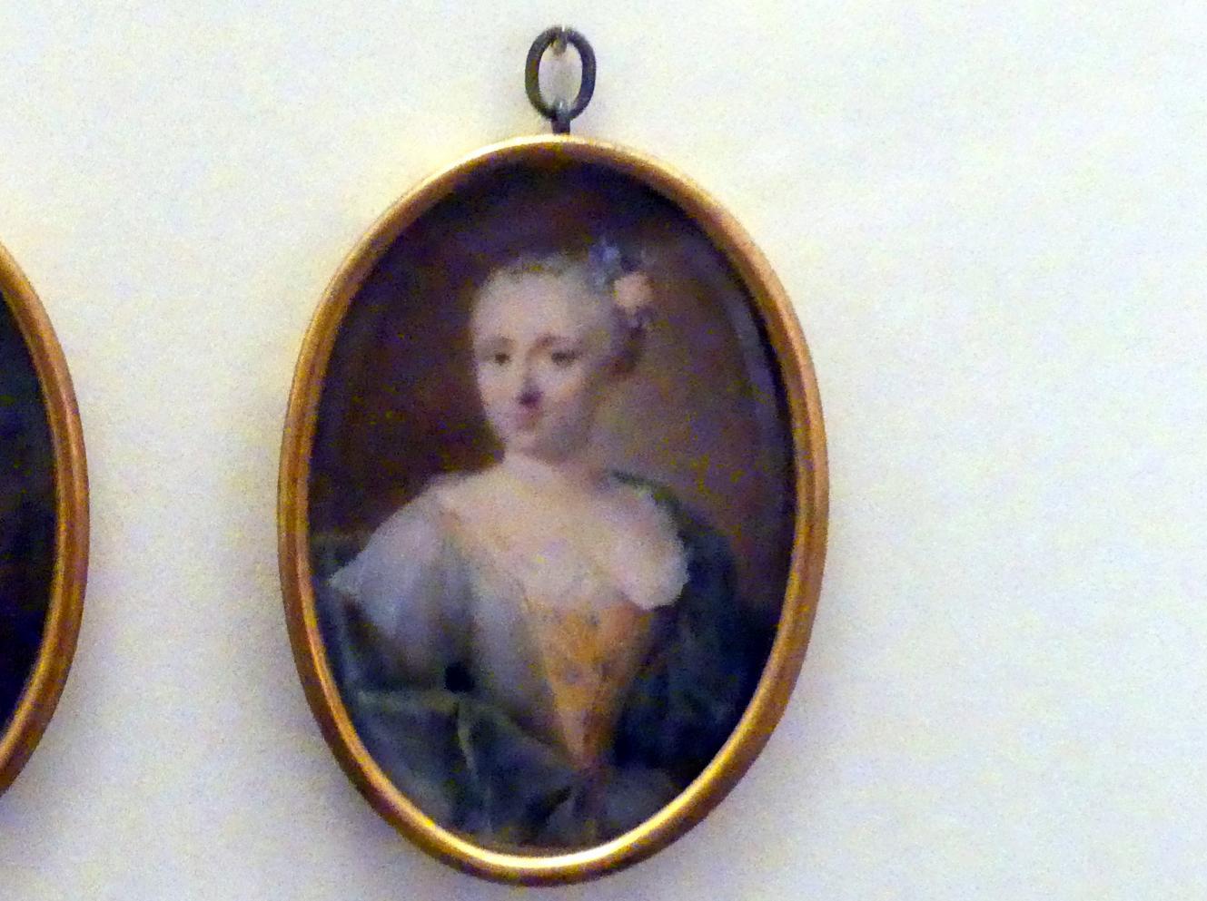 Johannes Esaias Nilson: Miniaturbildnis der Elisabeth Magdalena von Stetten, um 1755