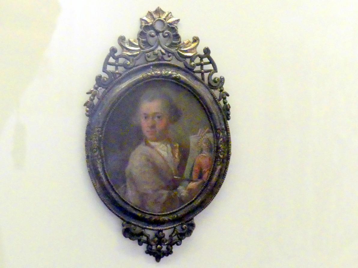 Johannes Esaias Nilson: Miniaturbildnis des Johann Joseph Anton Huber, um 1780
