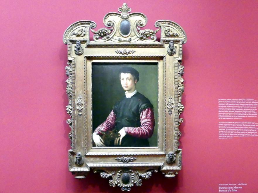 Francesco Salviati: Portrait eines Mannes, Um 1543 - 1548