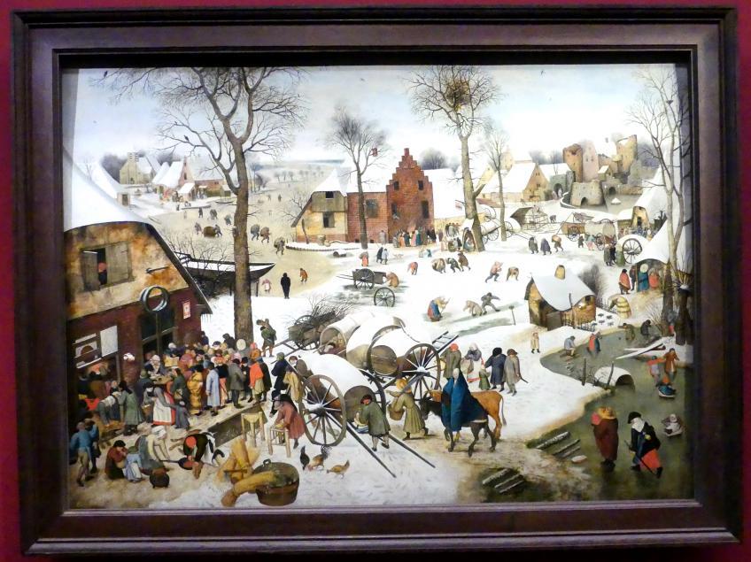 Pieter Brueghel der Jüngere (Höllenbrueghel): Die Volkszählung in Bethlehem, 1607