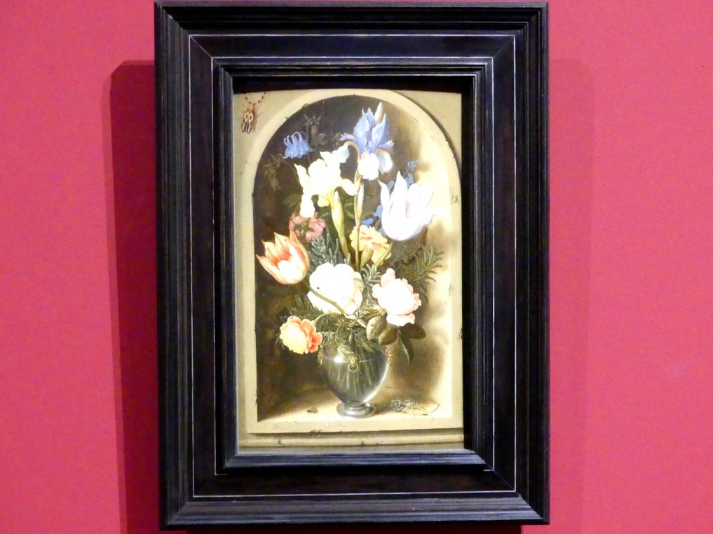 Ambrosius Bosschaert der Ältere: Blumenbouquet in einer Nische, um 1616 - 1619