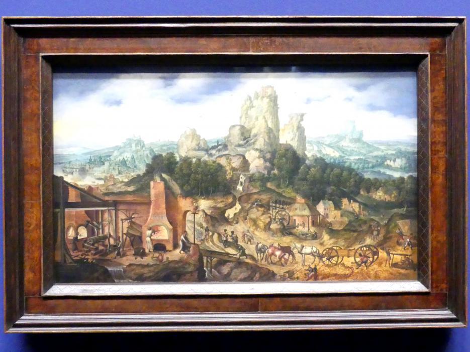Herri met de Bles: Landschaft mit Hammerschmiede, Um 1535