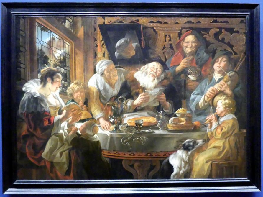 Jacob Jordaens: Wie die Alten sungen, so pfeifen die Jungen, 1644