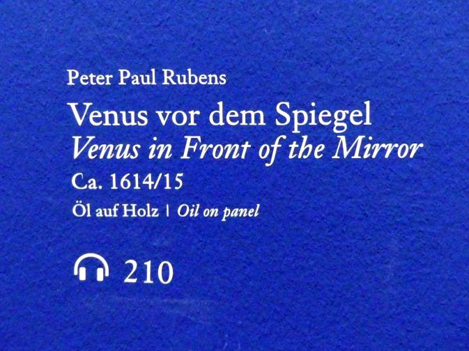 Peter Paul Rubens: Venus vor dem Spiegel, um 1614 - 1615, Bild 2/3