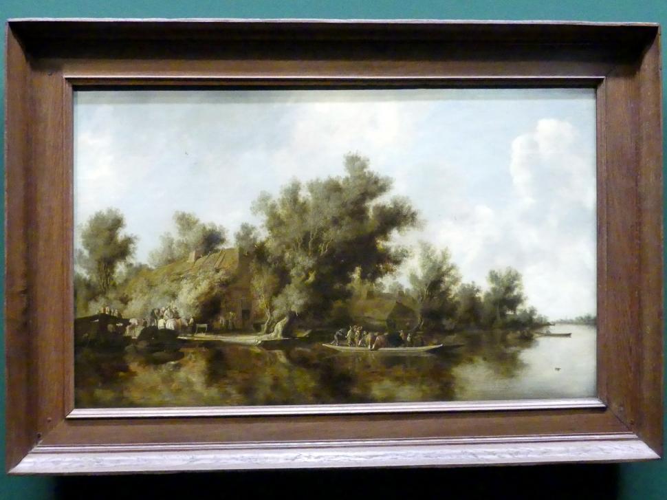 Salomon van Ruysdael: Flusslandschaft mit Fähre, 1631