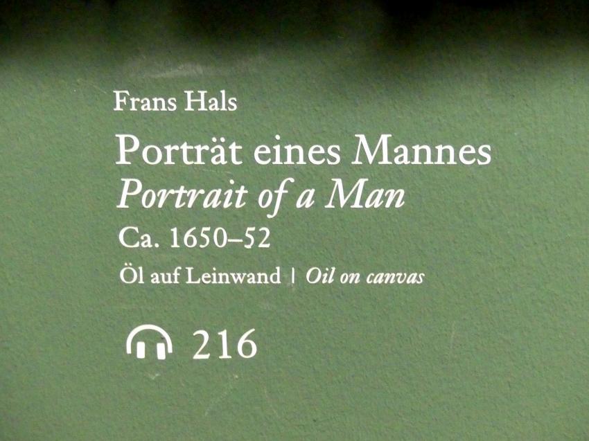 Frans Hals: Portrait eines Mannes, um 1650 - 1652, Bild 2/3