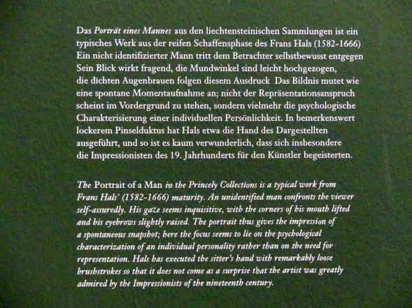 Frans Hals: Portrait eines Mannes, um 1650 - 1652, Bild 3/3
