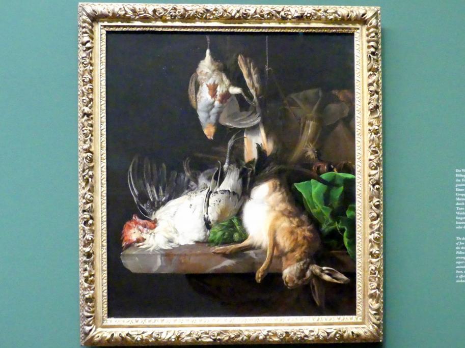 Jan Weenix: Jagdbeute auf einem Tisch, Um 1650 - 1675