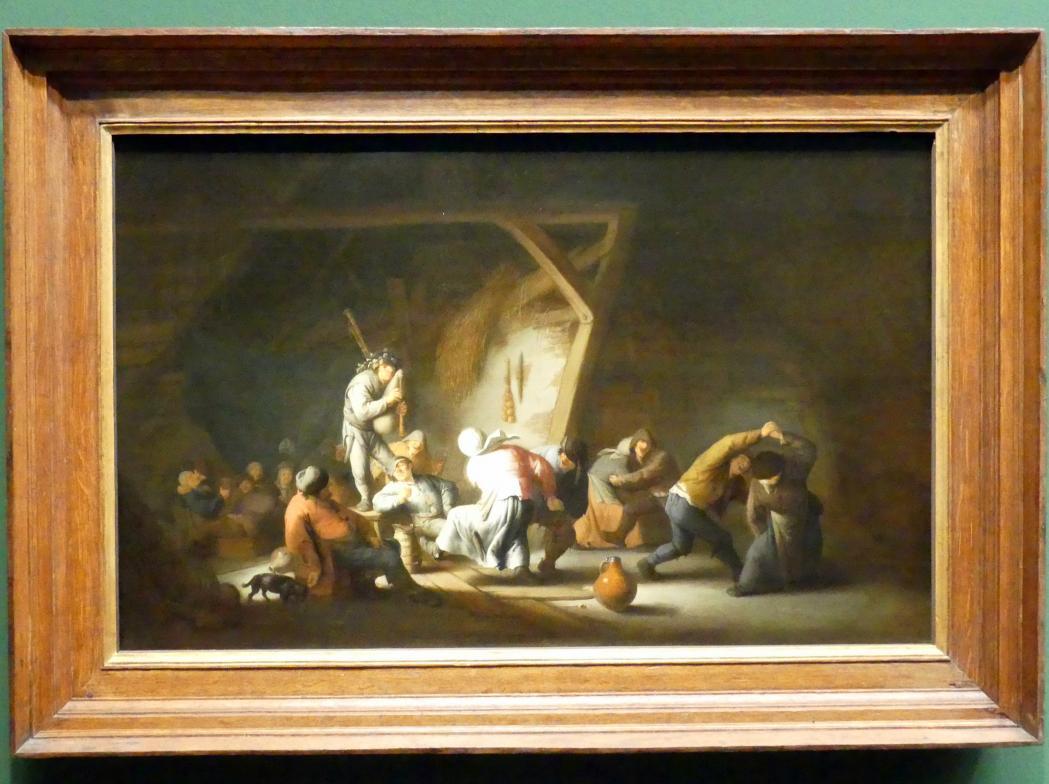 Adriaen van Ostade: Bauerntanz in einer Scheune, 1635