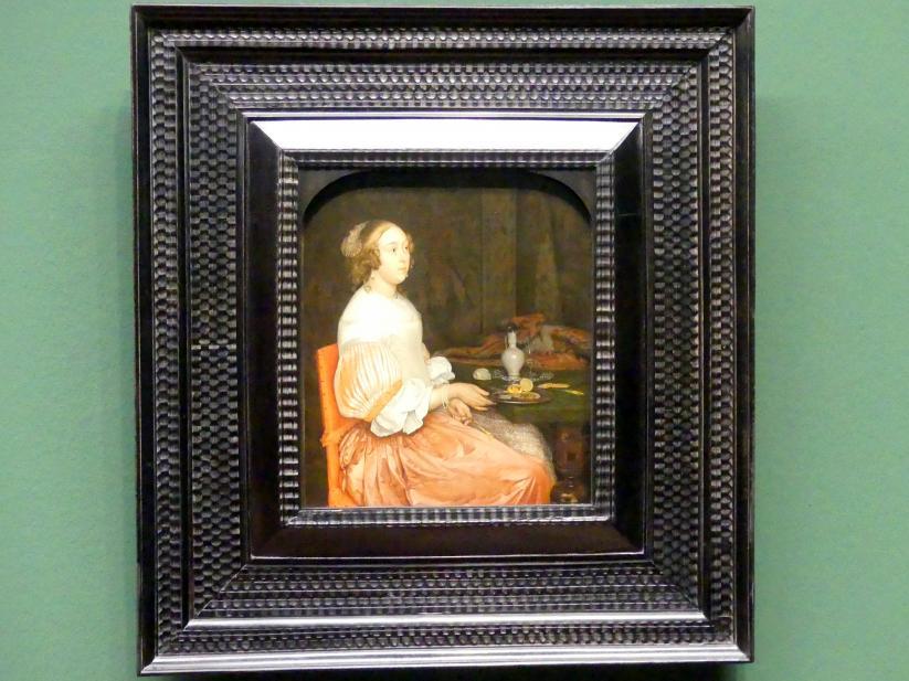 Eglon Hendrick van der Neer: Junge Dame beim Frühstück, 1665