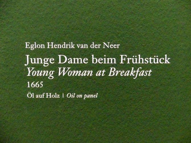 Eglon Hendrick van der Neer: Junge Dame beim Frühstück, 1665, Bild 2/3