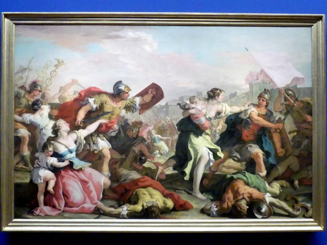 Sebastiano Ricci: Kampf der Römer gegen die Sabiner, Um 1700