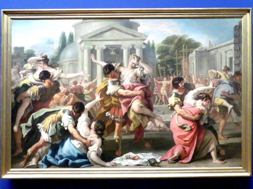 Sebastiano Ricci: Der Raub der Sabinerinnen, Um 1700