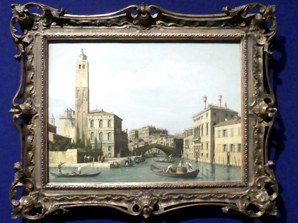 """Giovanni Antonio Canal (""""Canaletto""""): Der Canale di Cannaregio, Um 1734 - 1742"""