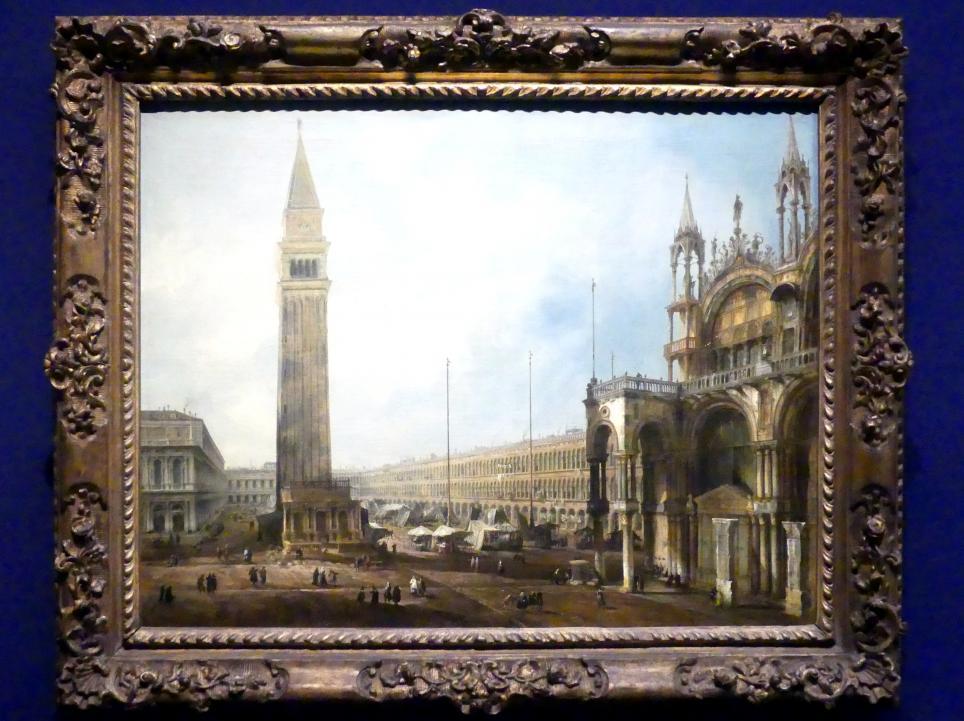 """Giovanni Antonio Canal (""""Canaletto""""): Der Markusplatz in Venedig, vor 1723"""