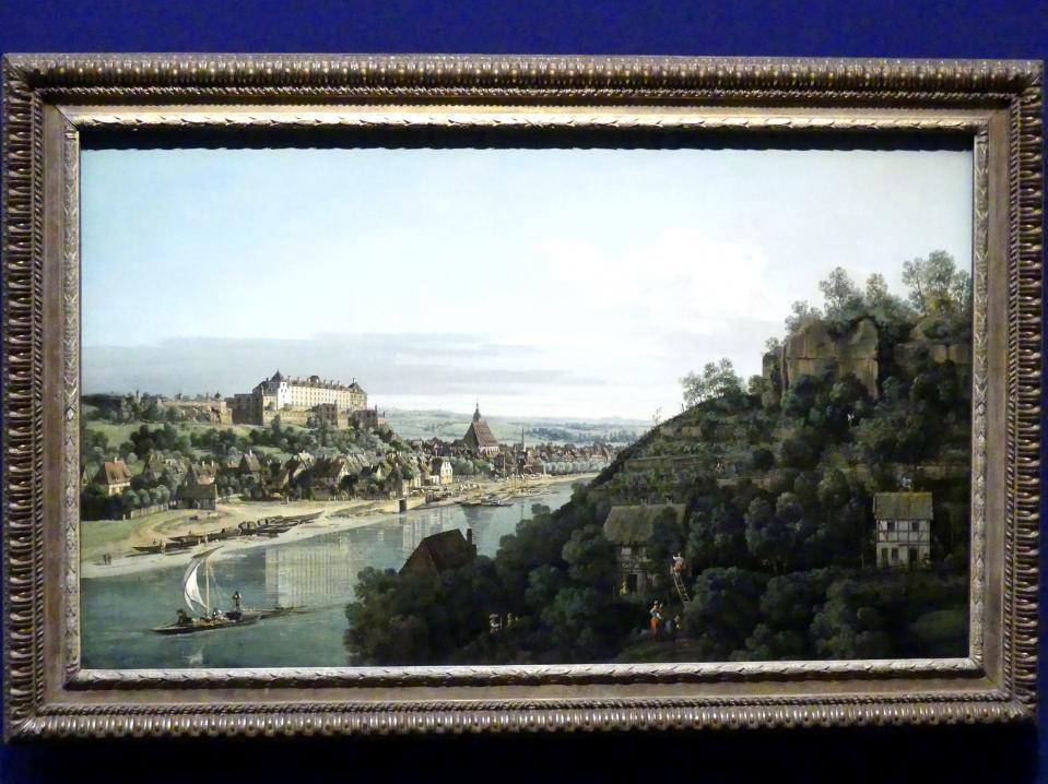 Bernardo Bellotto (Canaletto): Pirna an der Elbe, Um 1756 - 1758