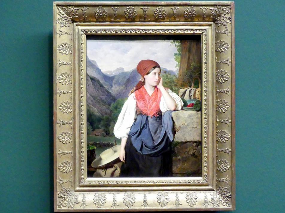 Franz Eybl: Die Erdbeerverkäuferin von Hallstatt, 1844