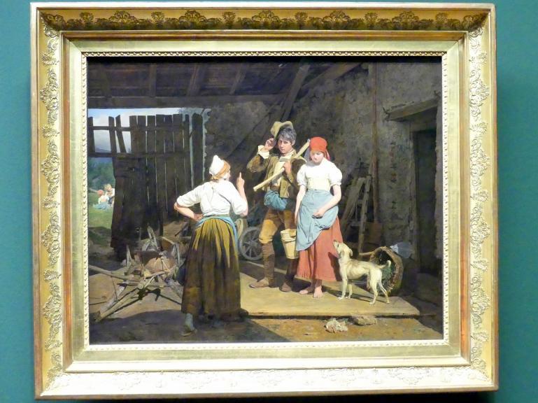 Ferdinand Georg Waldmüller: Die Mütterliche Ermahnung, 1850