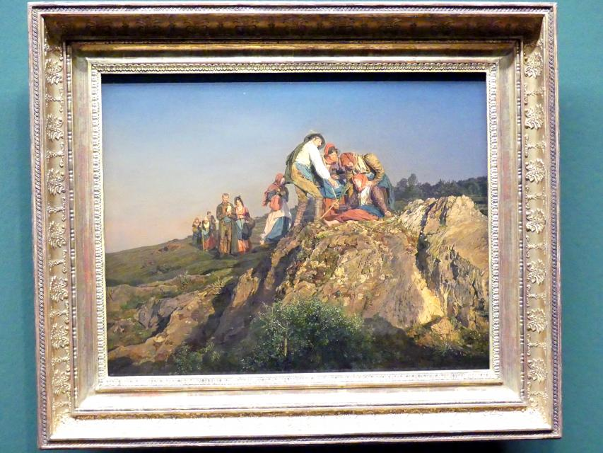 Ferdinand Georg Waldmüller: Die unterbrochene Wallfahrt, 1853