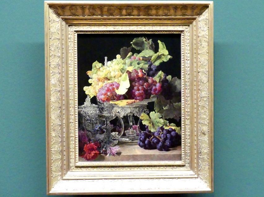 Ferdinand Georg Waldmüller: Rote und weiße Trauben mit Tafelsilber, 1841