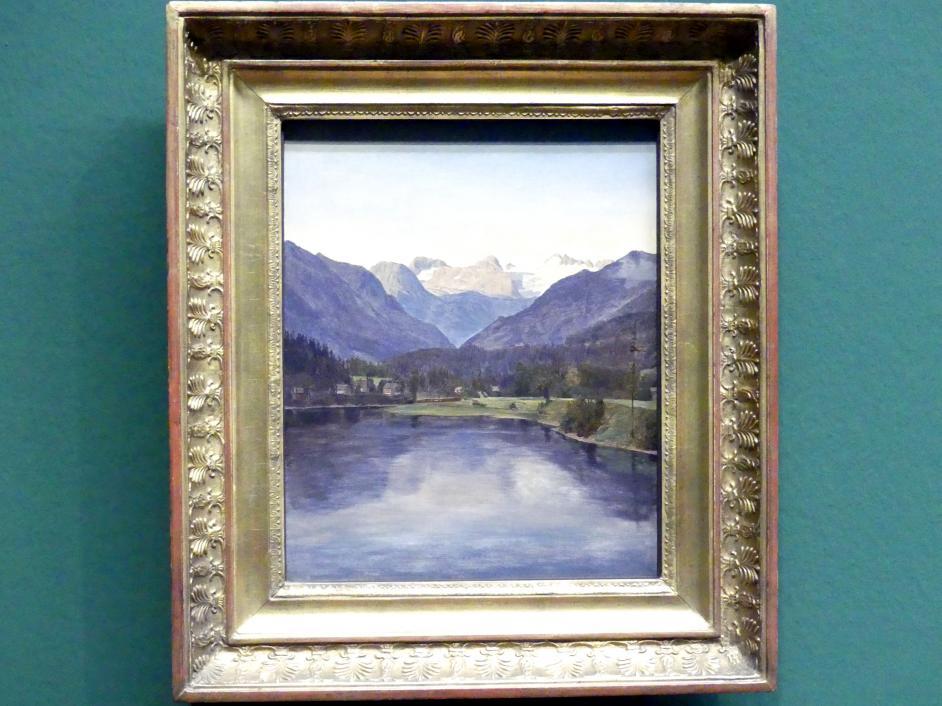 Ferdinand Georg Waldmüller: Ansicht des Altausseer See gegen den Dachstein, 1834