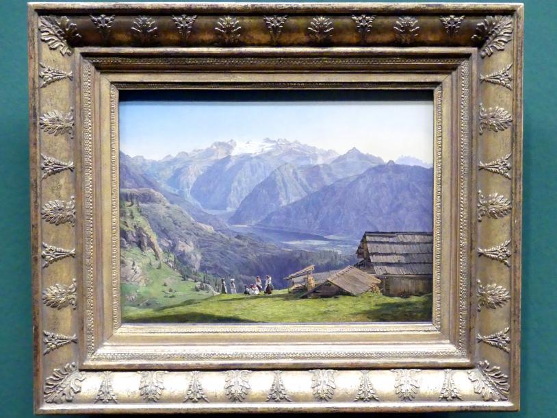 Ferdinand Georg Waldmüller: Ansicht des Dachsteins mit dem Hallstättersee, 1840