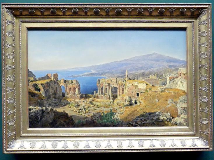 Ferdinand Georg Waldmüller: Die Ruine des griechischen Theaters in Taormina, 1844