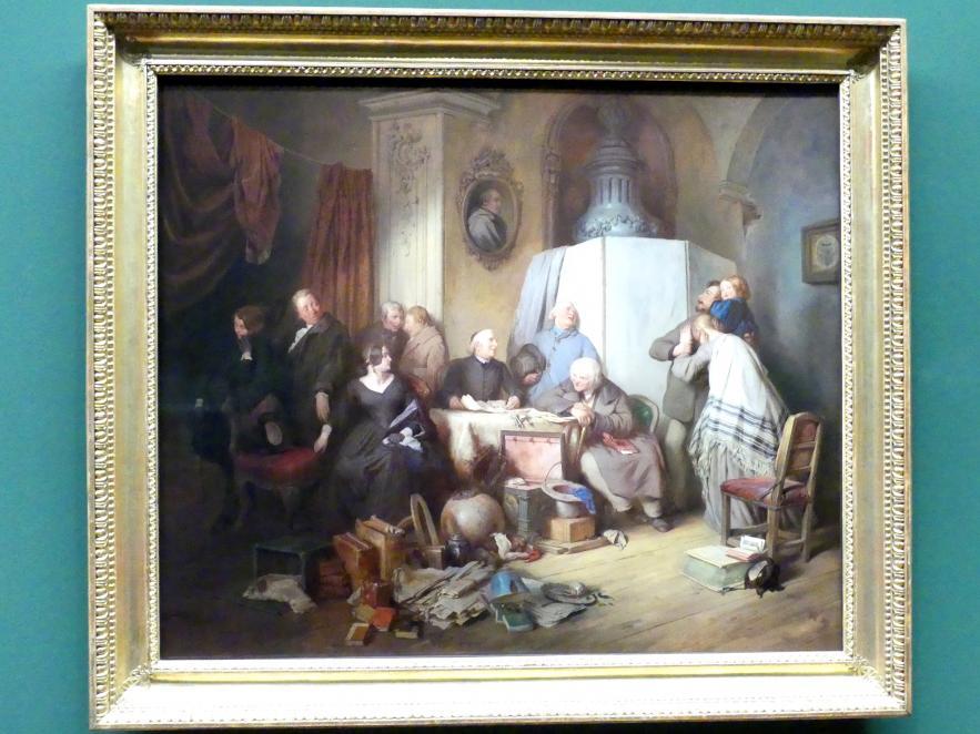 Josef Danhauser: Die Testamentseröffnung, 1844