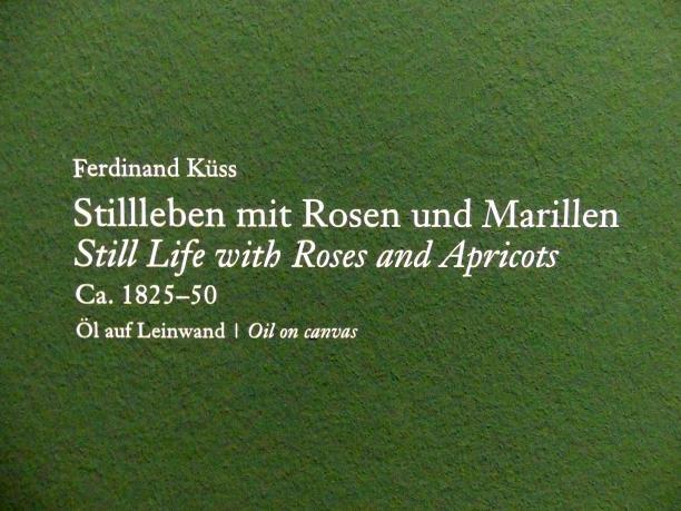 Ferdinand Küss: Stillleben mit Rosen und Marillen, um 1825 - 1850, Bild 2/2