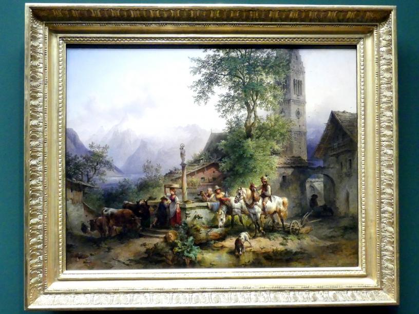 Friedrich Gauermann: Der Brunnen von Zell am See, Vor 1842