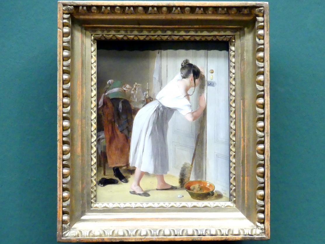 Peter Fendi: Das vorsichtige Stubenmädchen, 1834