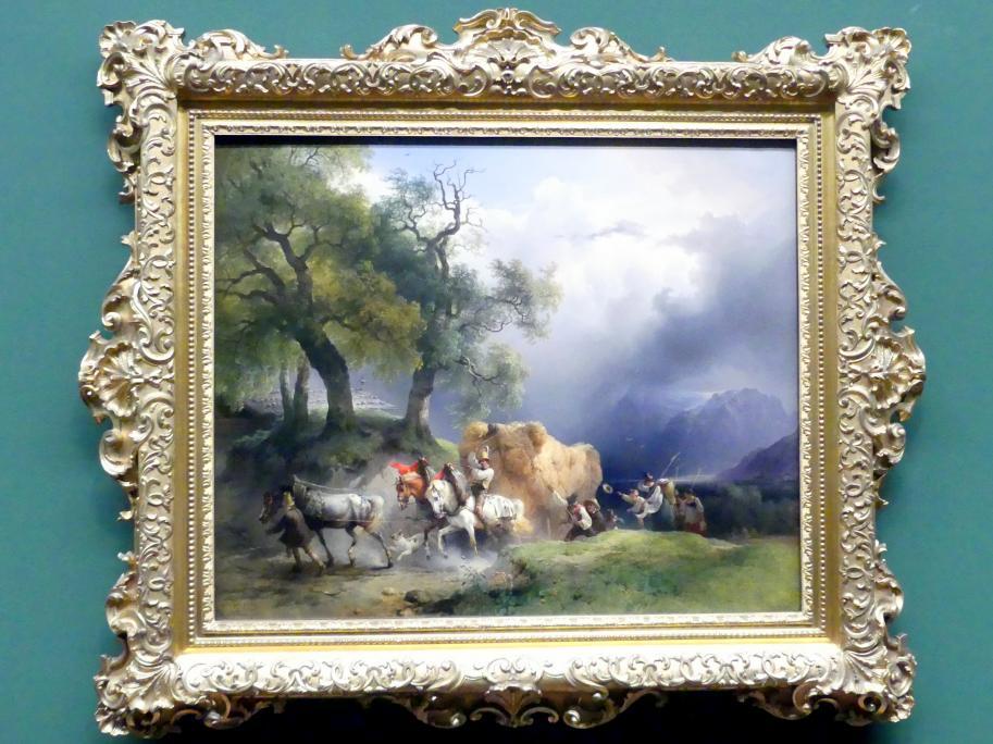 Friedrich Gauermann: Der Erntewagen, 1837