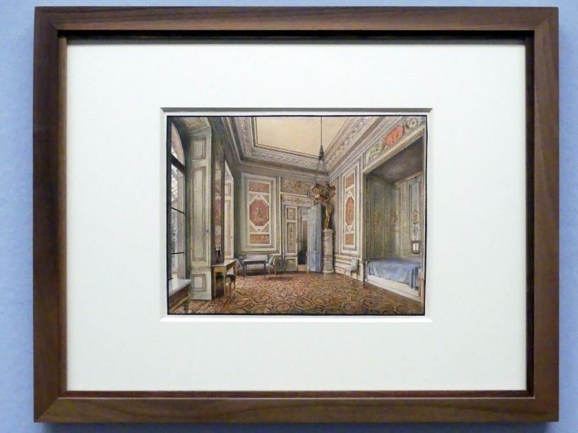 Rudolf von Alt: Schlafzimmer im Palais Liechtenstein in der Herrengasse, 1837