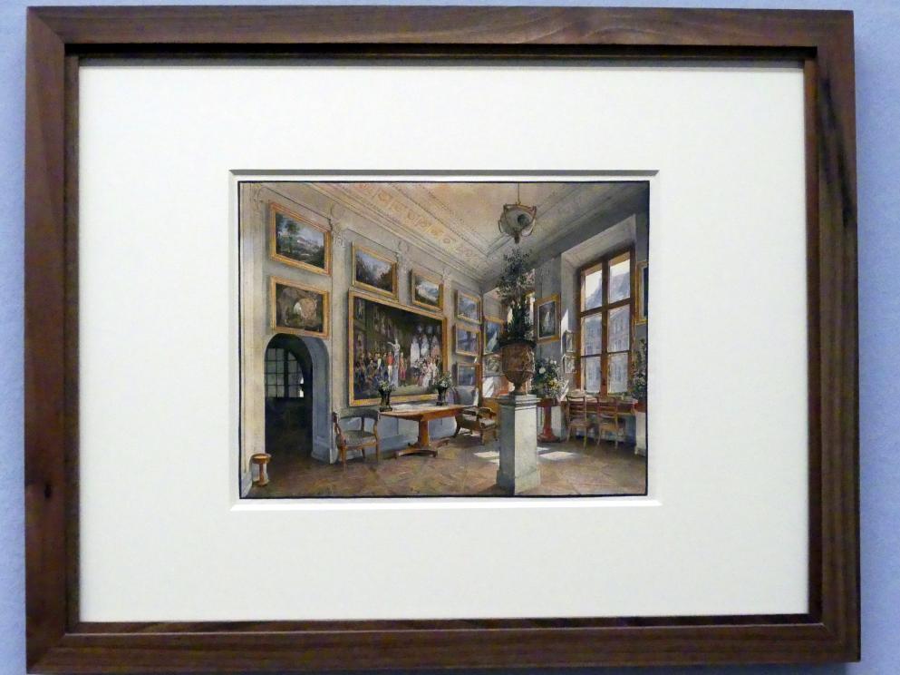 Rudolf von Alt: Schreibzimmer im Palais Liechtenstein in der Herrengasse, 1837