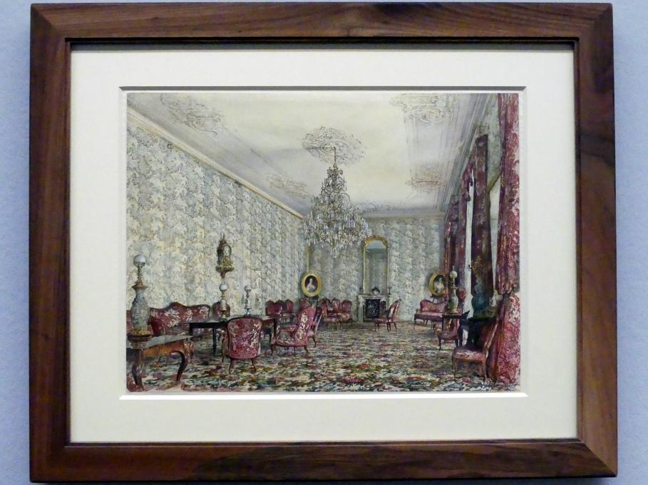 Rudolf von Alt: Der blaue Salon im Palais Kinsky, 1865