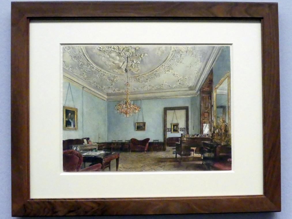 Rudolf von Alt: Ein Salon im ehemaligen Palais Pállfy, 1865