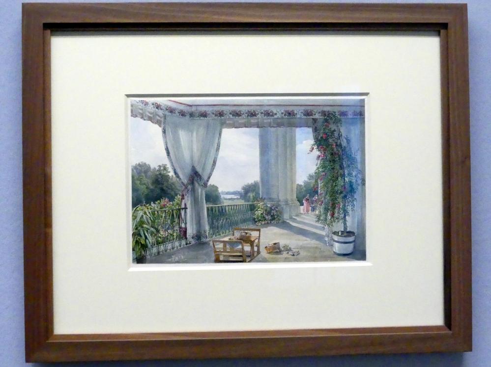 Joseph Höger: Blick von der Terrasse des Palais Rasumofsky gegen die Donau, Nach 1837