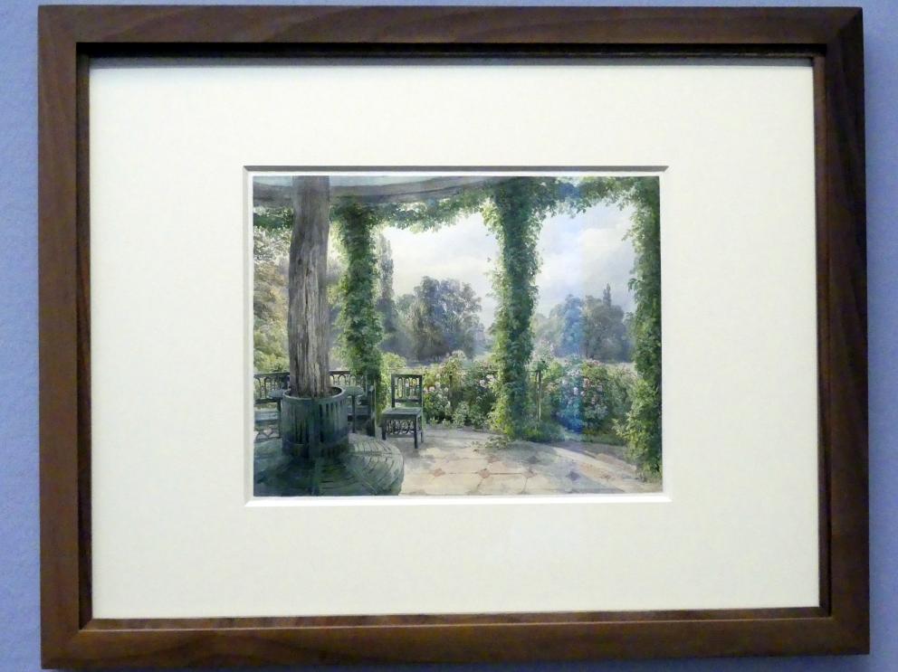 Joseph Höger: Blick aus einem Gartenpavillon auf das Palais Rasumofsky, Nach 1837