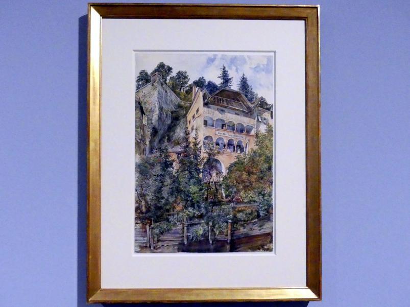 Rudolf von Alt: Das Hafnerhaus am Stein in Salzburg, Um 1887
