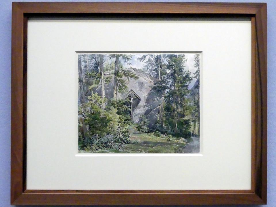 Joseph Höger: Blick auf den Kreuzstein am Waldbachstrub, Um 1836
