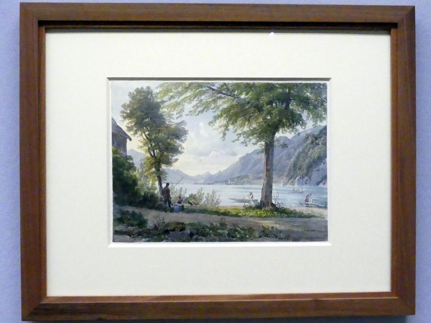 Joseph Höger: Blick von Strobl gegen St. Wolfgang, Um 1836