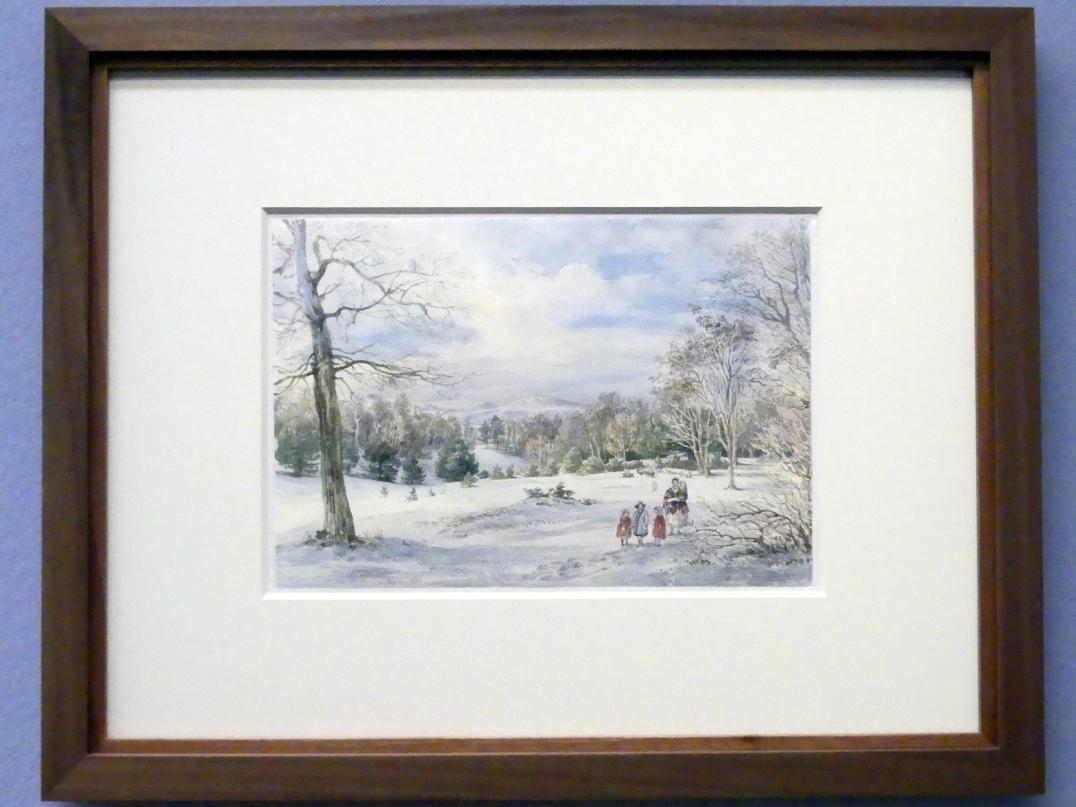 Joseph Höger: Winterlandschaft, 1846