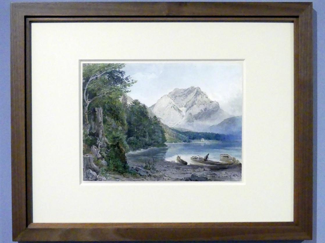 Joseph Höger: Blick auf den Vorderen Langbathsee, Um 1836