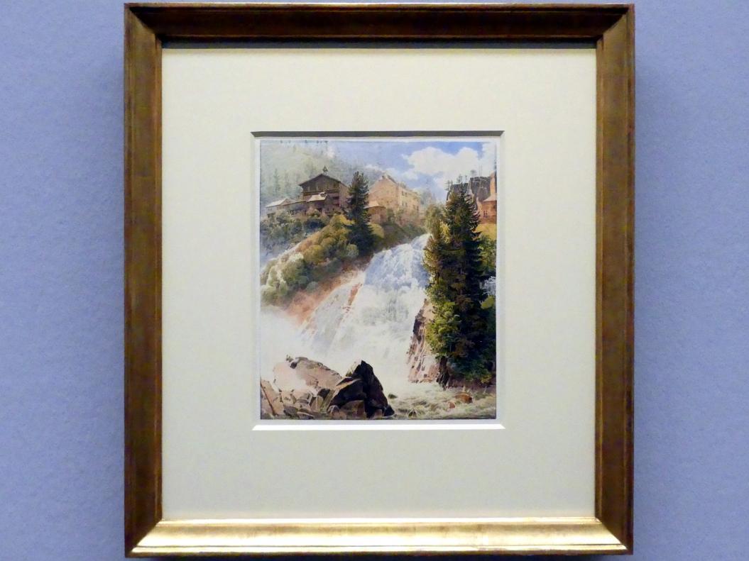 Rudolf von Alt: Der Wasserfall in Bad Gastein, 1832